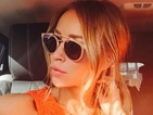 TOWIE's Lauren Pope embraces sunshine in shades and chic orange top