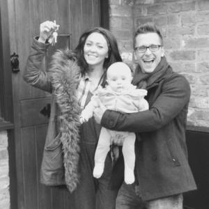 Natasha Hamilton and Ritchie Neville move into their new home with their daughter Ella Rose, and Natasha's three sons. 5 March 2015.