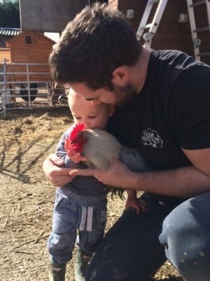 Katie Price shares more family photos - 4 March 2015 - Jett and Kieran with chickens