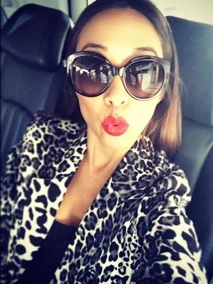 Myleene Klass sports favourite leopard print coat, Instagram 6 March