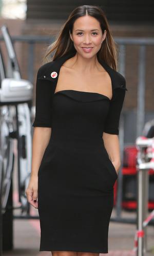 Myleene Klass appears on Good Morning Britain, ITV studios, London 3 March