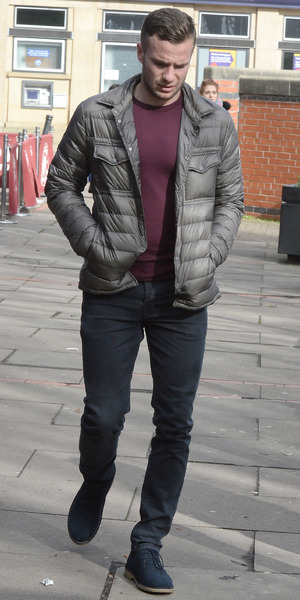 Tom Cleverley and Georgina Dorsett stop by Costa Coffee in Hale Village - 4 March 2015