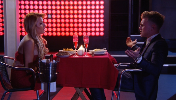 TOWIE episodic 8/3/15: Georgia and boyfriend Tommy enjoy a romantic dinner date.