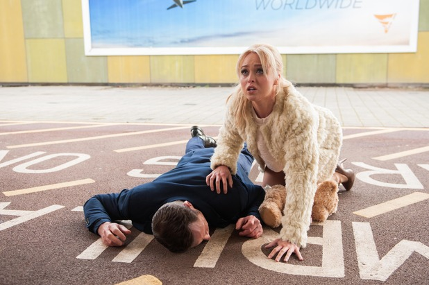 Hollyoaks, Patrick collapses, Wed 4 Mar