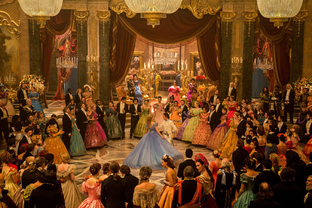 The night of the ball at the Grand Palace, where Prince Charming and Cinderella share the first dance
