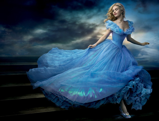 Cinderella's beautiful dress from the new film, out 27th March.