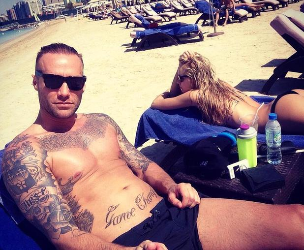 Calum Best soaks up the sun on holiday with girlfriend Ianthe in Abu Dhabi - 2 March 2015.