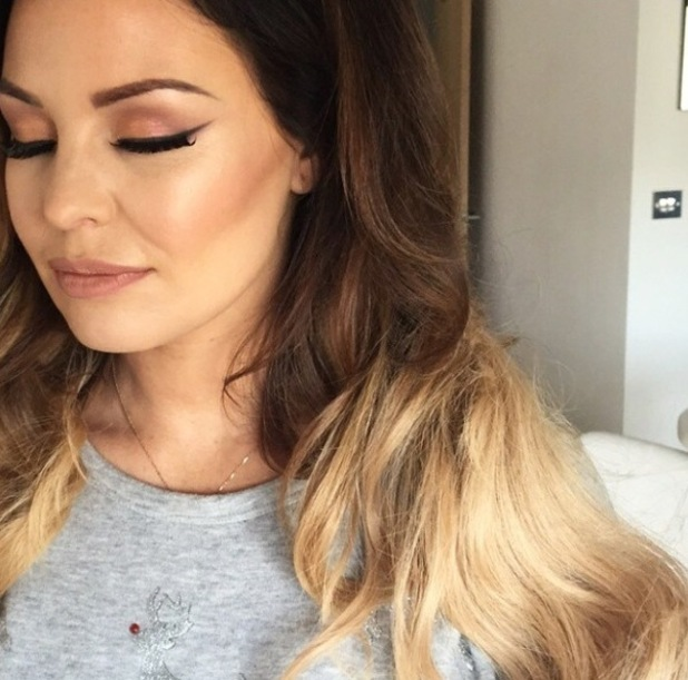 Jess Wright's make-up for filming, from Krystal Dawn's Instagram, 2/3/15