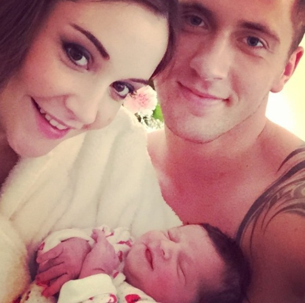 Jacqueline Jossa and Dan Osborne pose for new picture with baby Ella - 6 March 2015