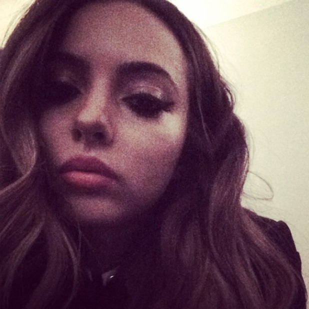 Jade Thirlwall selfie before bed looking too glamorous for words! After attending The Sun Bizarre party, 2 March 2015