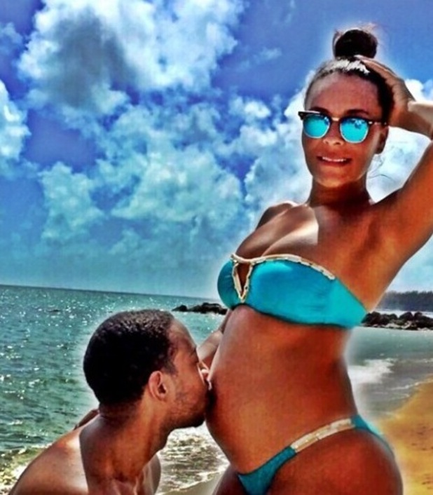 Ludacris' wife Eudoxie announces via Instagram that the two are expecting their first child together. 1 March 2015.
