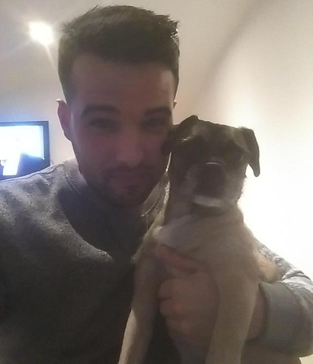Ricky Rayment poses with dog Blake after he goes missing in TOWIE - 2 March 2015