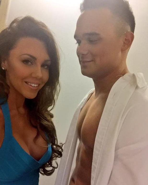 Michelle Heaton and Gareth Gates take part in fake tan photo shoot - 4 March 2015