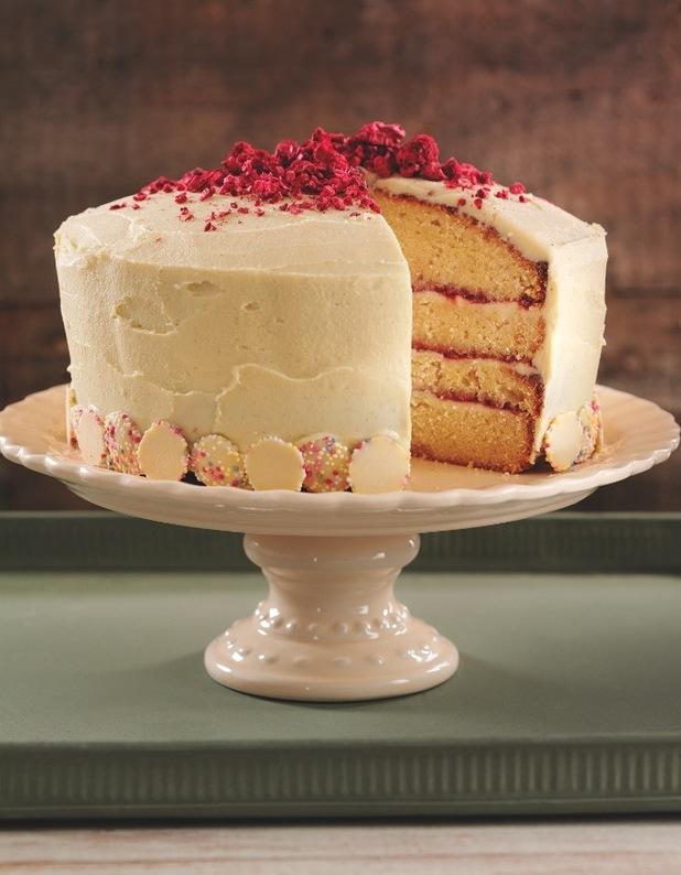 Chocolate Sponge Cake Decorating Ideas : Mother s Day Vanilla, Raspberry & White Chocolate Layered ...