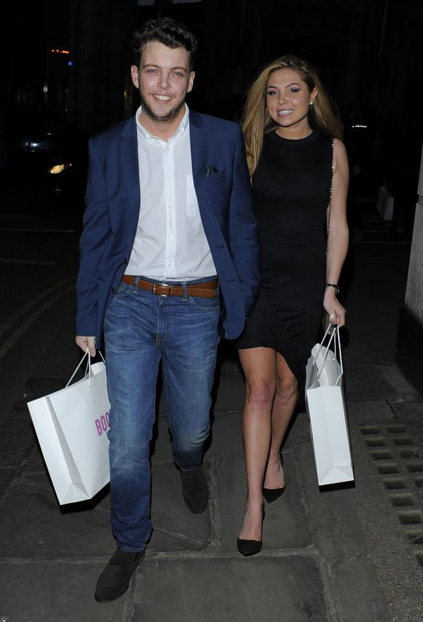 TOWIE's Fran Parman and boyfriend James 'Diags' Bennewith at The Sun's showbiz party in London - 2 March 2015.