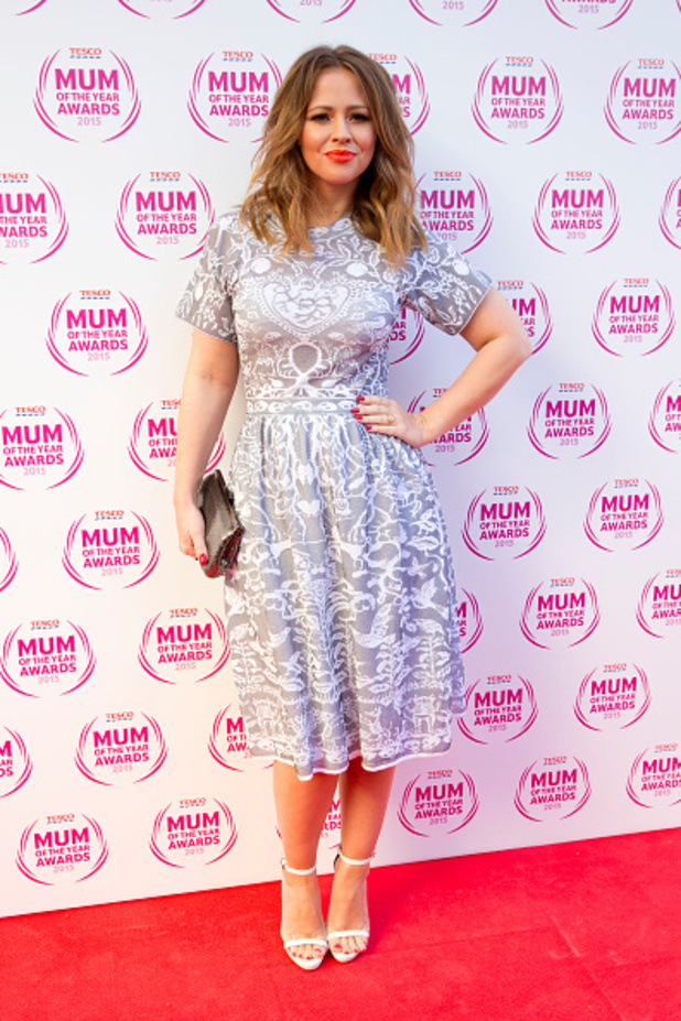 Kimberley Walsh looked beautiful at the Mum Of The Year Awards yesterday (1 March) as she stepped out in beautiful spring skater dress