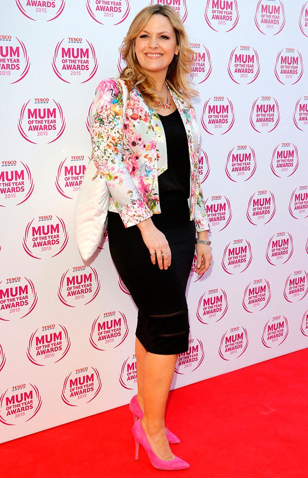 Jo Joyner, Tesco Mum of the Year Awards at the Savoy Hotel, London, 1 March 2015