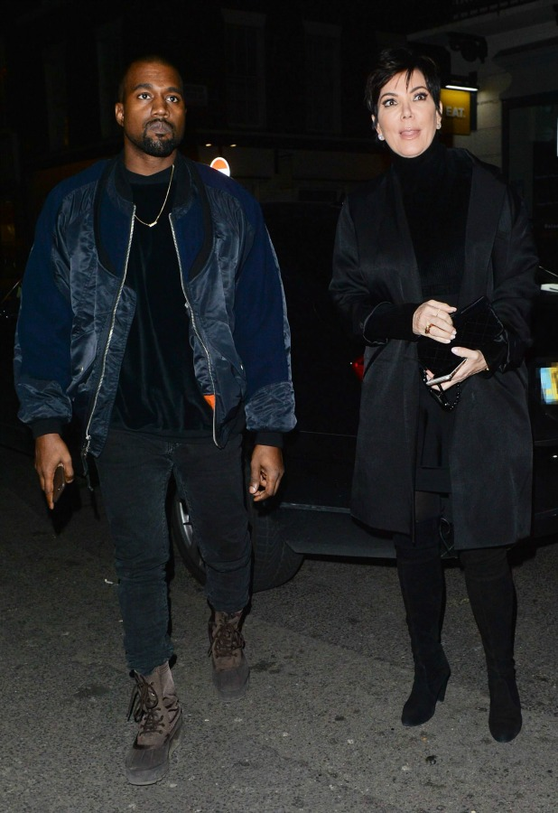 Kanye West and Kris Jenner out and about, London, Britain - 02 Mar 2015