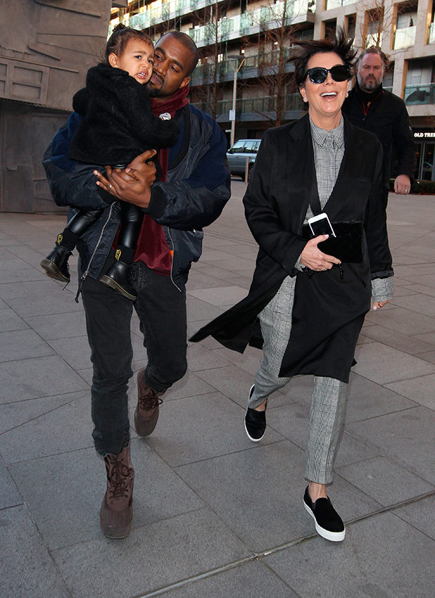 Kanye and North West with Kris Jenner 3 Mar 2015