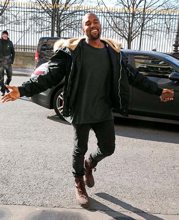Kim Kardashian and Kanye West out and about, Paris, France - 05 Mar 2015