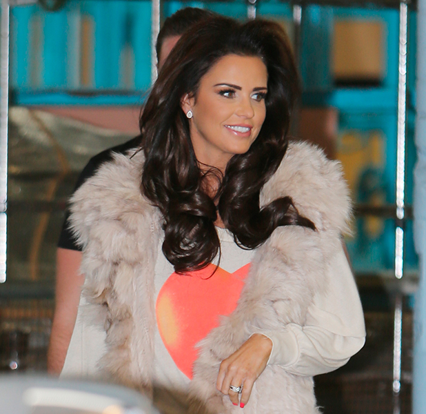 Katie Price outside ITV Studios, 13 February 2015