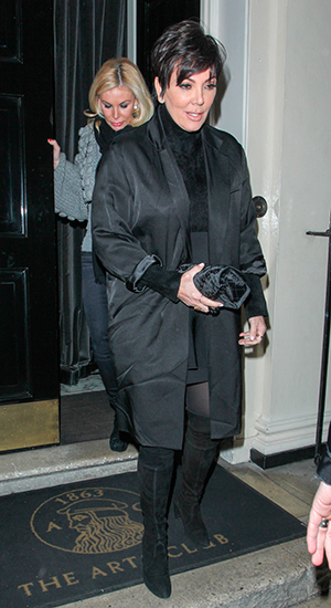 Kris Jenner at the Arts Club in Mayfair, 3 March 2015