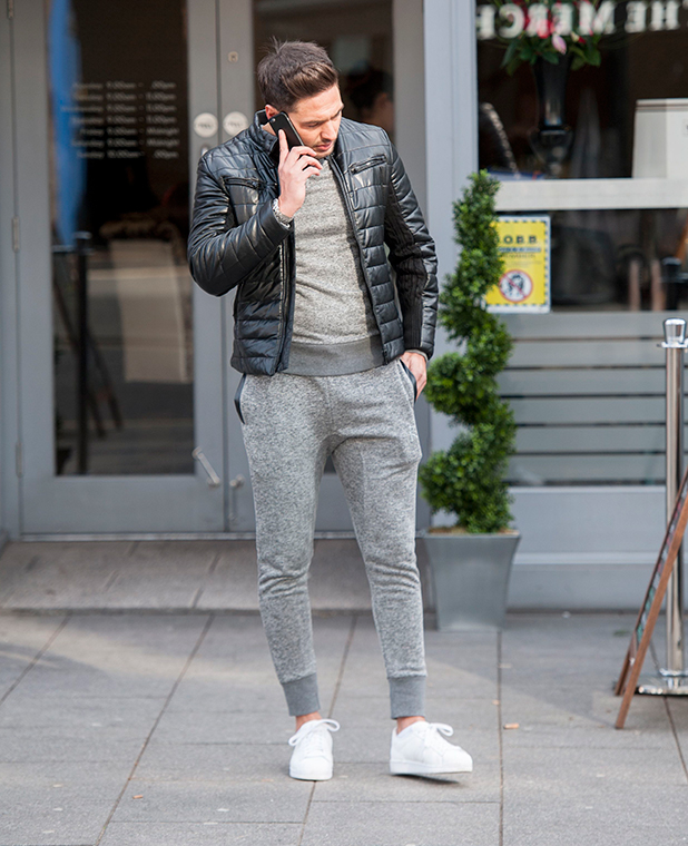 TOWIE's Mario Falcone filming in Essex, February 2015