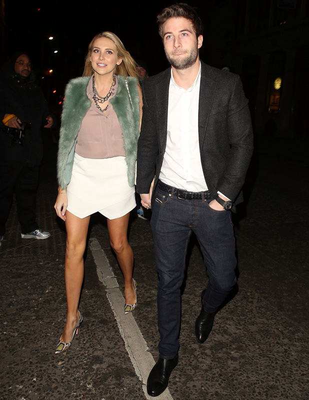 Made in Chelsea's Stephanie Pratt and Josh Shepherd at The Sun newspaper party on 2 March 2015