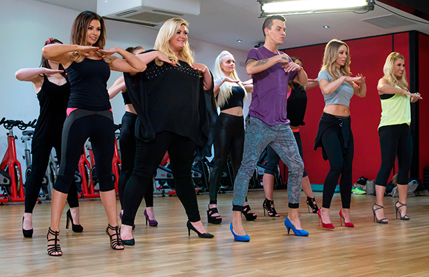 Jessica Wright, Gemma Collins, Bobby Norris, Lauren Pope and Billie Faiers learn Stiletto dancing 2 Mar 2015
