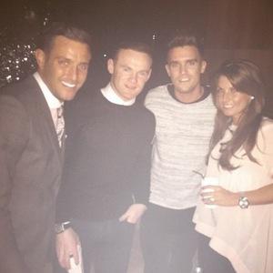 Elliott Wright, Gary Beadle, Wayne Rooney and Coleen Rooney at DSTRKT London, Instagram 11 March