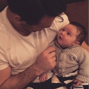 Una Foden shares sweet new picture of her baby son Tadhg and husband Ben - 11 March 2015.
