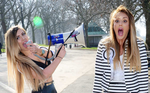 Holly Hagan and Charlotte Crosby join Geordie Shore co-stars in Hyde Park, London 11 March
