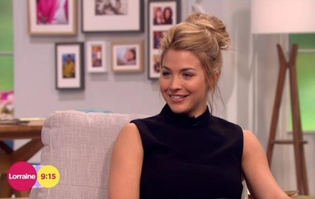 Gemma Atkinson appears on Lorraine, ITV, London 11 March