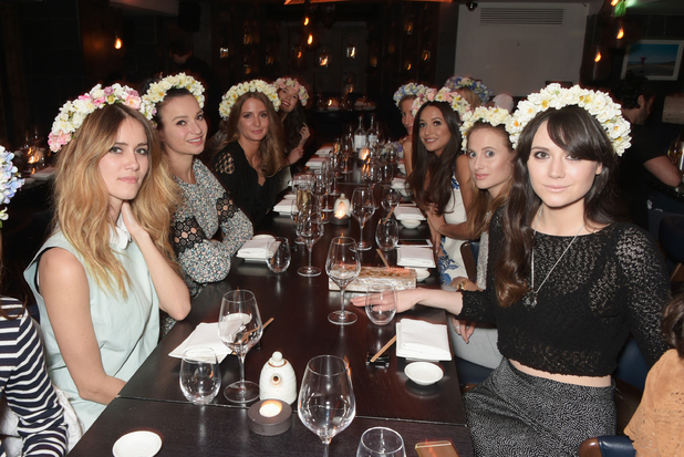 Millie Mackintosh celebrated the launch of her new collections with all of her gal pals last night (10 March)
