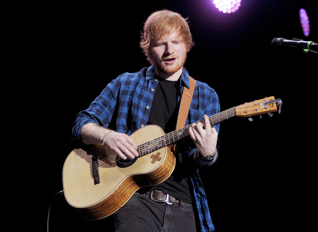 Ed Sheeran performing live on stage at the Assago Forum - Italy - 01/27/2015.