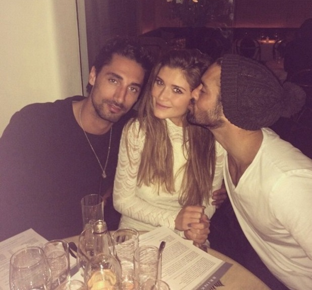 Lauren Hutton, Spencer Matthews and Hugo Taylor at dinner, Instagram 12 March
