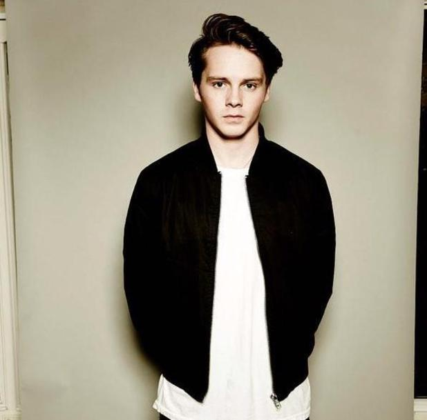EastEnders star Sam Strike shares behind-the-scenes pic from photo shoot - 10 March 2015.