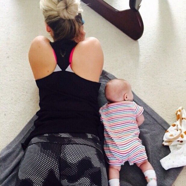 Kimberly Wyatt with baby daughter Willow, Instagram 11 March