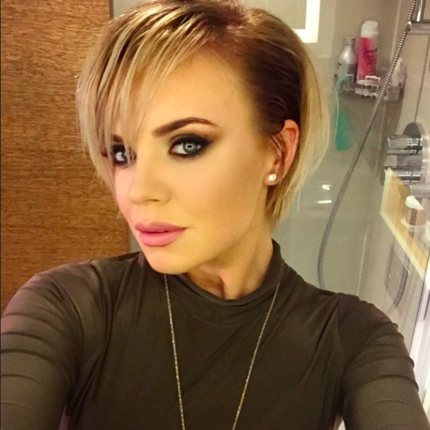 Maria Fowler unveils new short hair, 13 March 2015