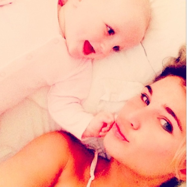 Billie Faiers pays tribute to all mums on Mother's Day with a cute picture of herself and daughter Nelly, 15 March 2015