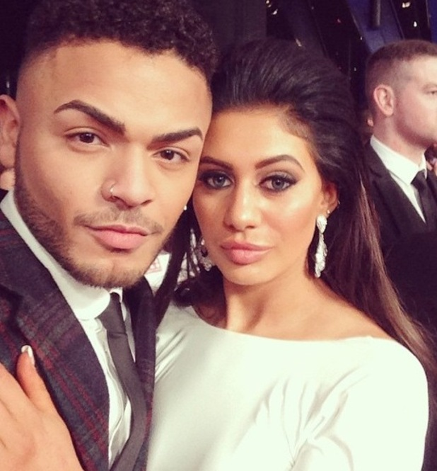 Nathan Henry and Chloe Etherington at the NTAs, Instagram 23 January