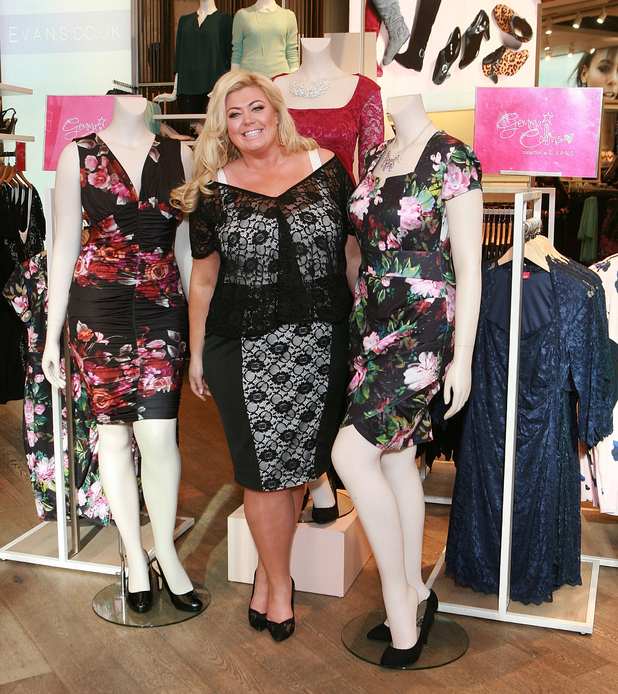 Gemma Collins at Evans Marble Arch to launch the Gemma Collins collection on March 12, 2015 in London, England.