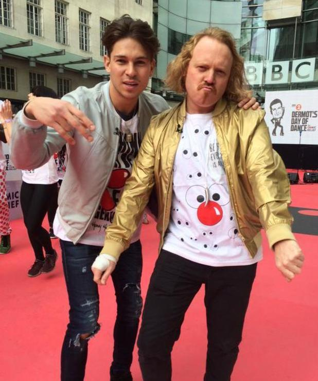 Joey Essex and Keith Lemon join Dermot O'Leary for Comic Relief dance marathon - 13 March 2015.