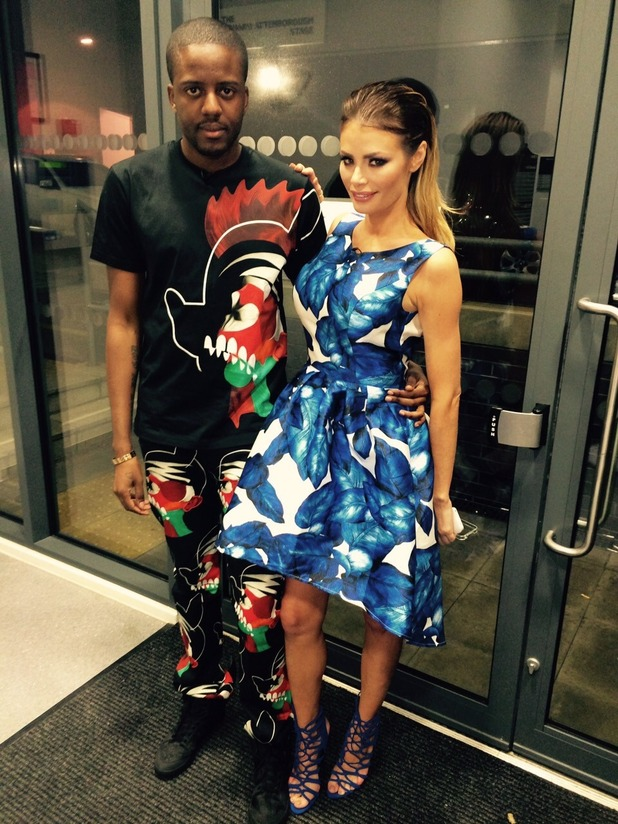 Chloe Sims looking super chic in colourful bloom-print dress from Chi Chi London