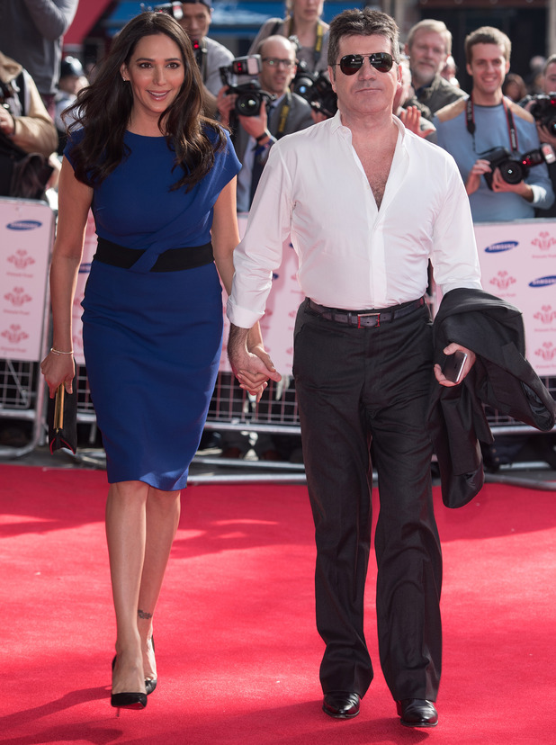 Simon Cowell and Lauren Silverman arrive at The Prince's Trust Awards, Odeon Leicester Square, London 12 March