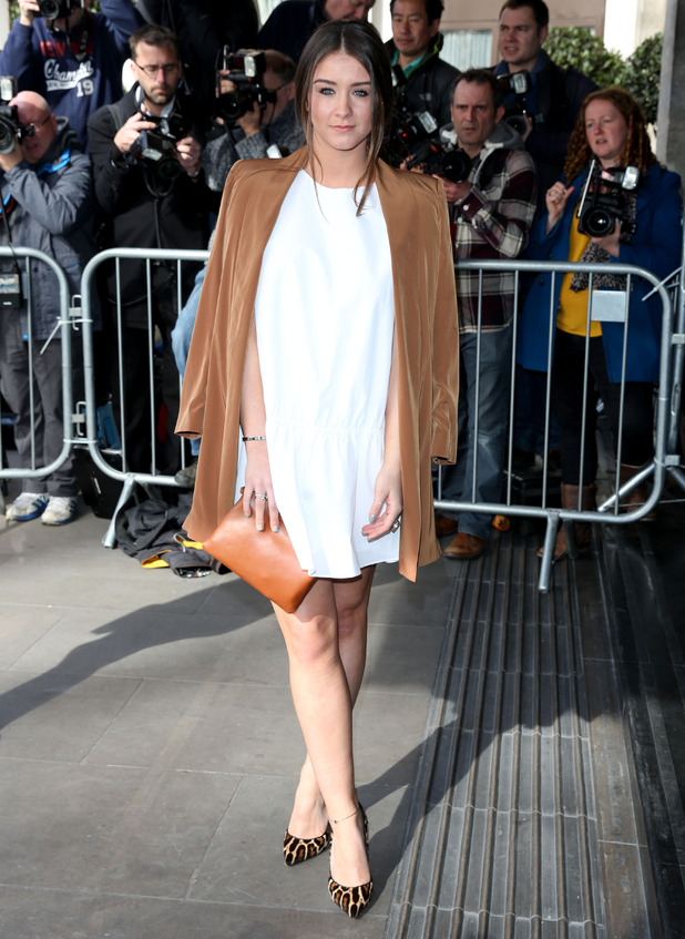 Brooke Vincent attends the TRIC Awards, Grosvenor House Hotel, London 10 March