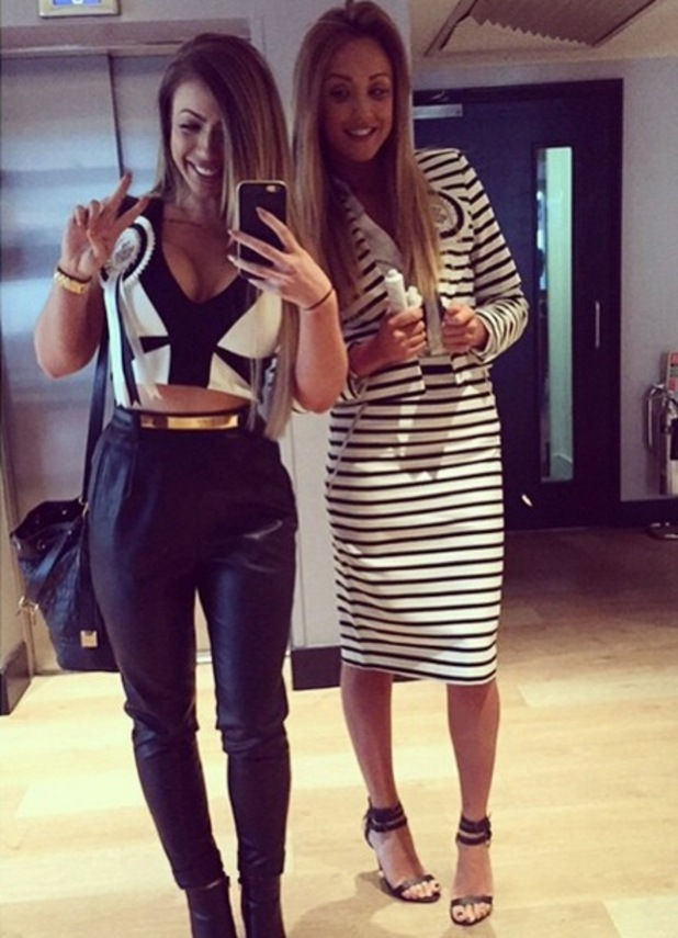 Holly Hagan and Charlotte Crosby reunite in London, Instagram 10 March
