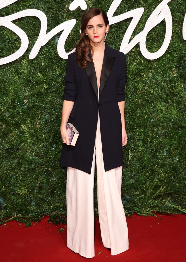 Emma Watson attends The British Fashion Awards, London 12 January