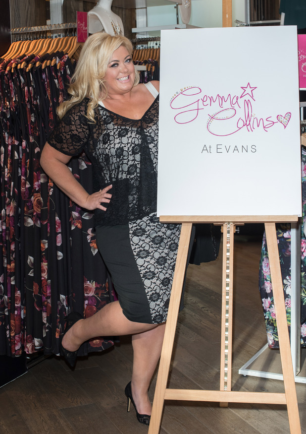 TOWIE star Gemma Collins launches collection at Evans in Oxford Street - 12 March 2015.
