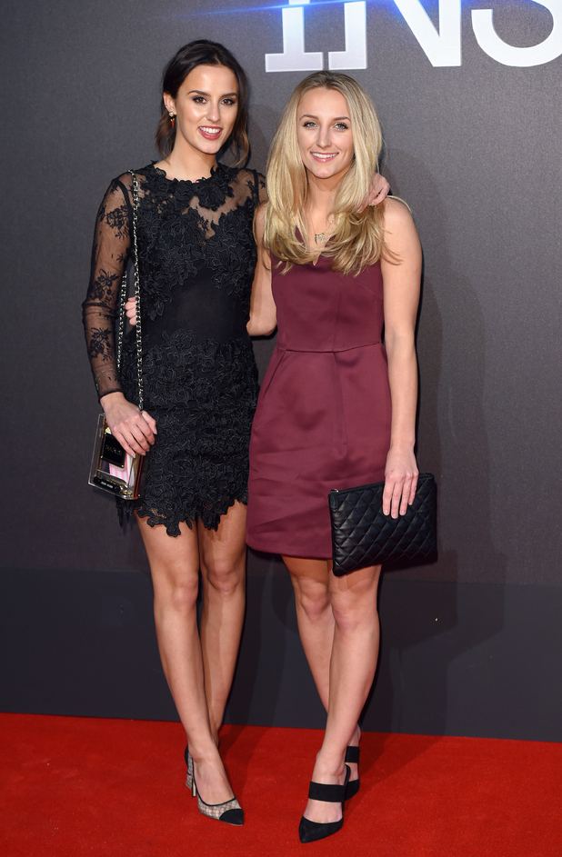 Lucy and Tiffany Watson work the red carpet at the Insurgent premiere (11 March)